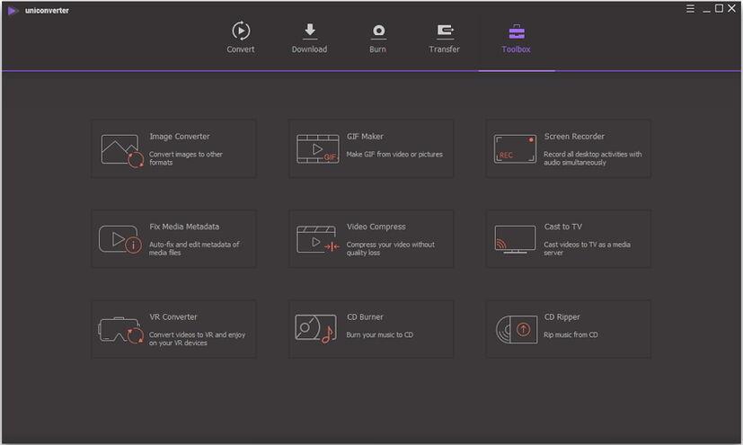 صندوق الأدوات لبرنامج تحويل الفيديو على نظام Windows