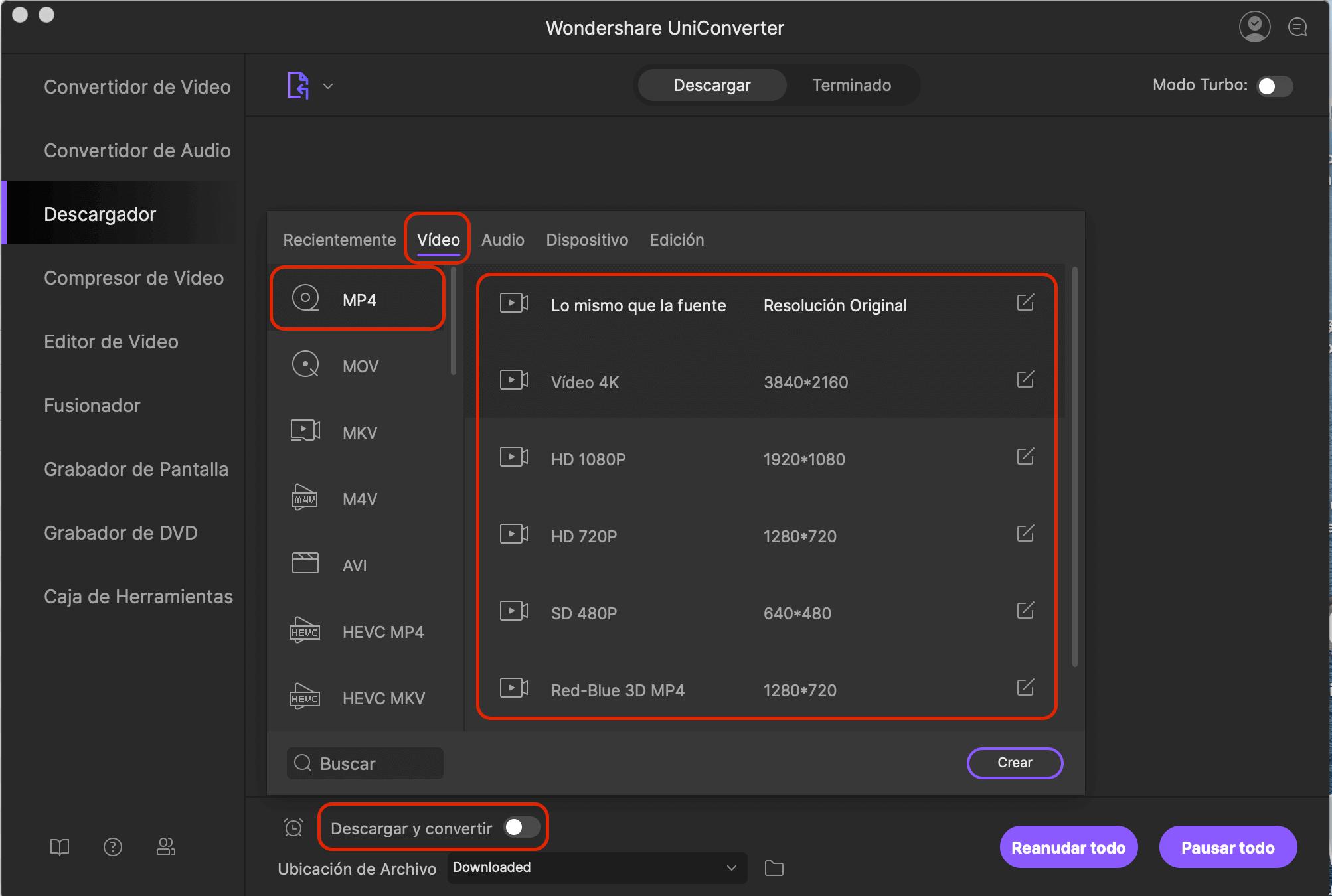 como descargar videos online usando imedia converter deluxe mac