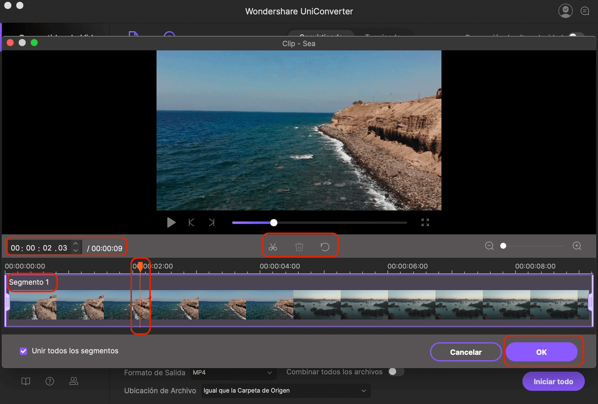 trim video using imedia converter deluxe mac