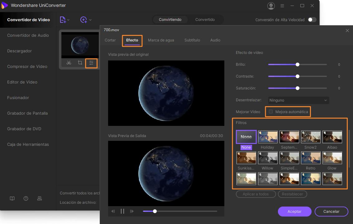 Edita videos de calidad HD