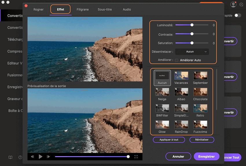 Appliquez des effets à la vidéo à l'aide UniConverter pour Mac