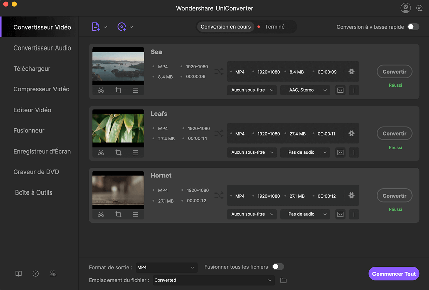 YouTube vers MP4 Converter Mac