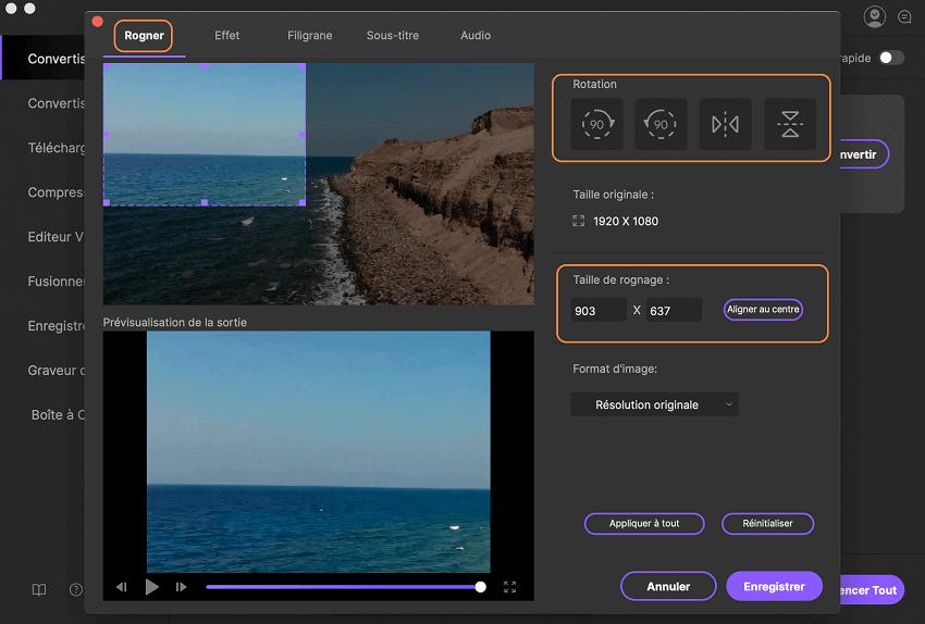 Comment couper une vidéo, en utilisant iSkysoft Video Converter Ultimate pour Mac