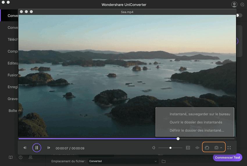 comment lire des vidéos sur mac en utilisant uniconverter pour mac?