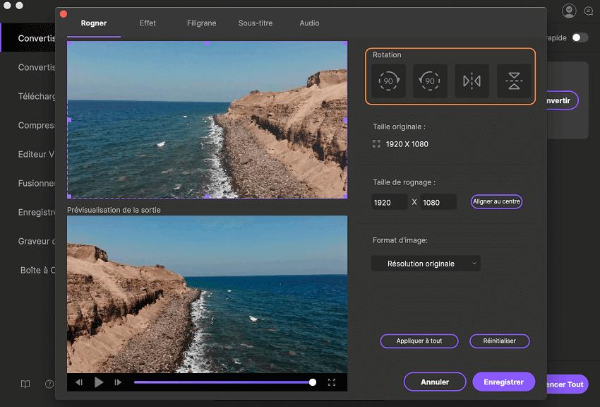 Comment pivoter une vidéo, en utilisant iSkysoft Video Converter Ultimate pour Mac