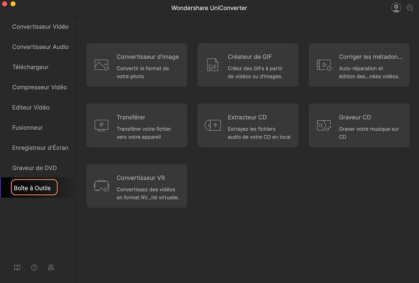 Créer un gif en utilisant uniconverter pour mac