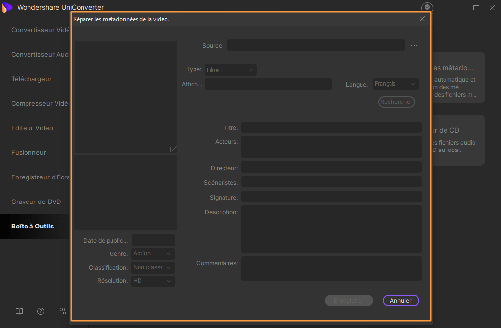 Modifier les métadonnées de vidéos en utilisant iSkysoft Video Converter Ultimate pour Windows