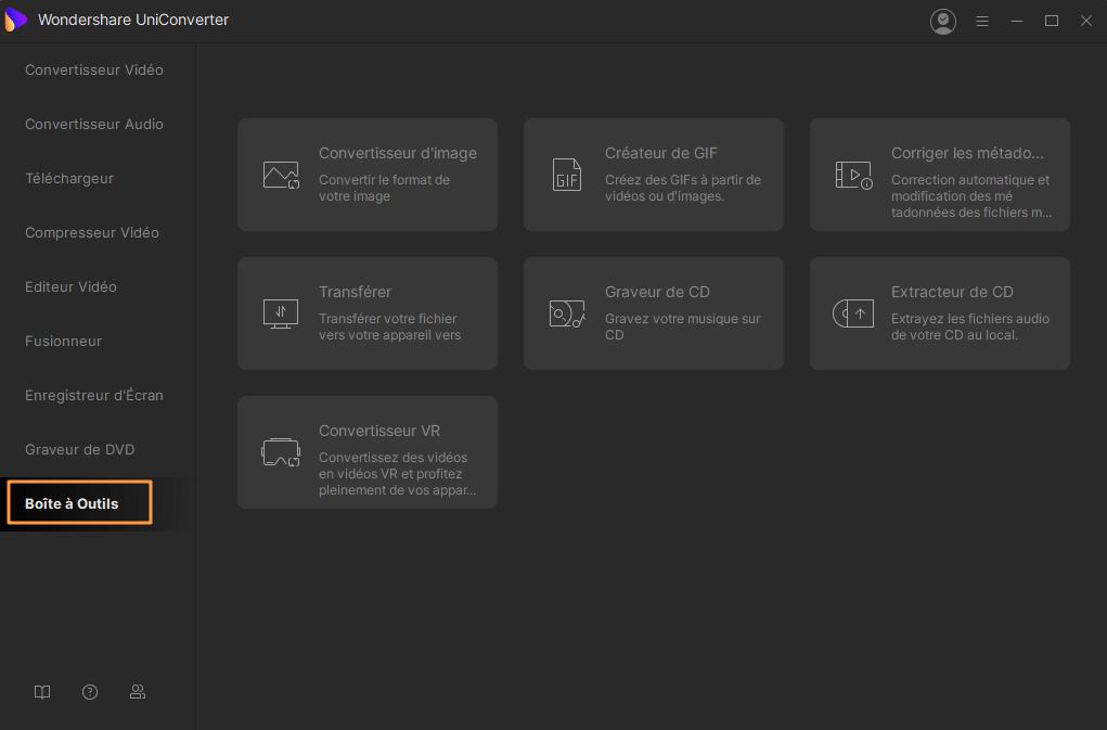 Les convertisseurs de vidéo Toolbox (Boîte à outil) pour Windows