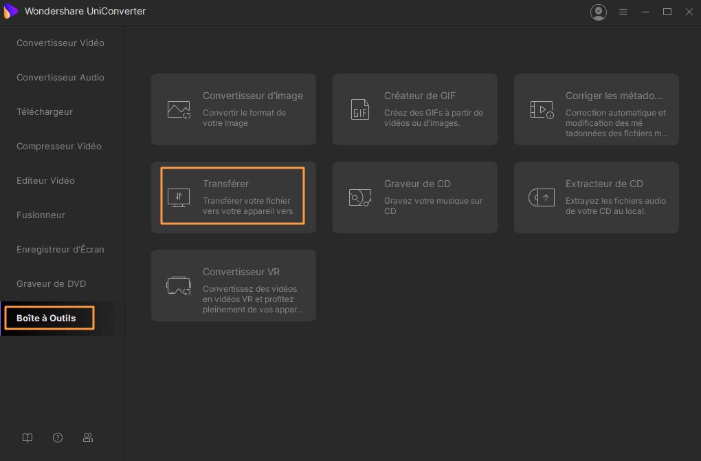 Transférer des vidéos converties sur Windows