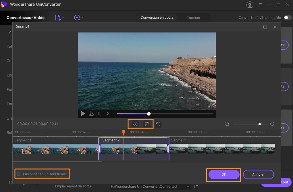 Comment couper une vidéo en utilisant iSkysoft Video Converter Ultimate pour Windows?