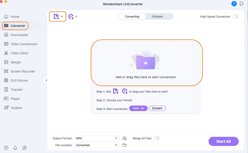 add mov to the mov to mp4 converter mac