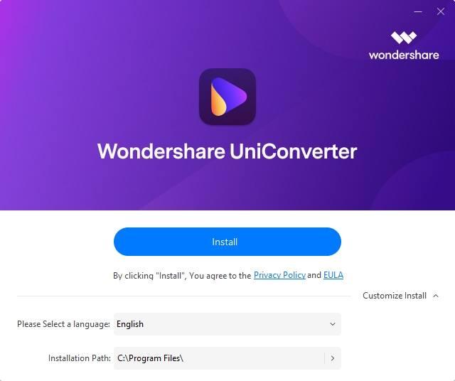 install uniconverter 13
