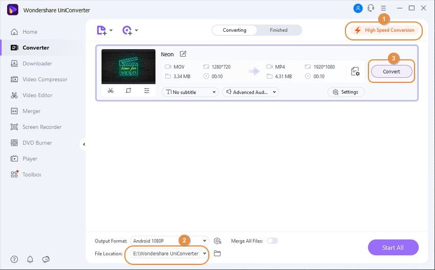 convert video for device 3