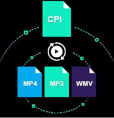 convert cpi to mp4