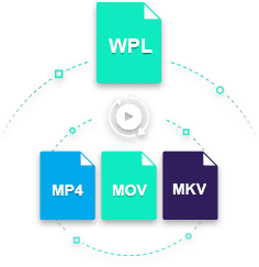 convert wpl to mp4