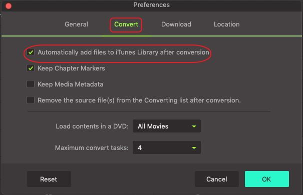 add covnerted file to iTunes