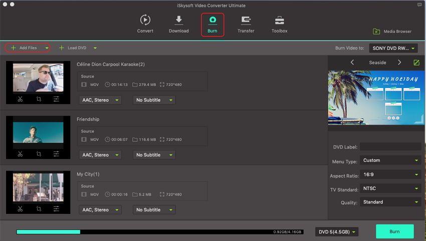 add imovie video to imovie to dvd creator