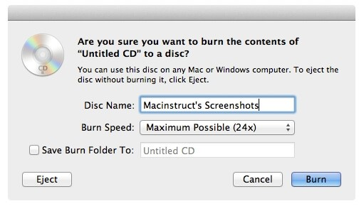 burn imovie to dvd on finder