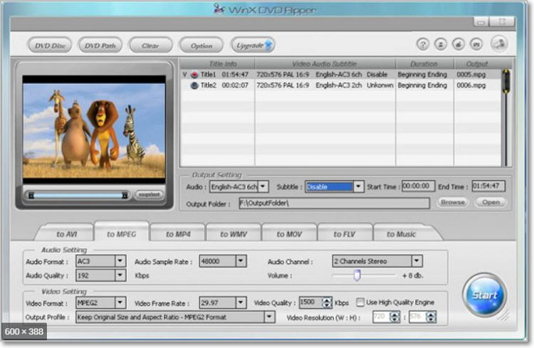 convert dvd to flv with winxdvdripper