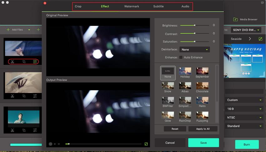 edit video on mkv to dvd burner
