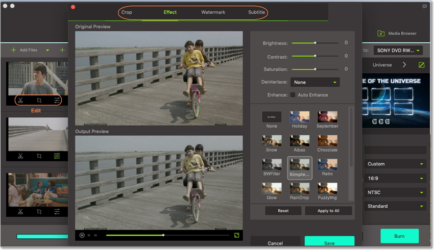 edit video_ts file on video_ts file to dvd burner