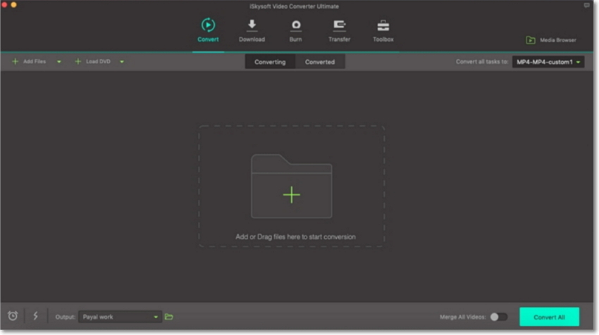 hd video converter main interface