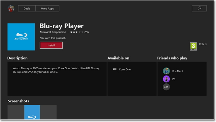 play dvd on xbox one with blu-ray dvd player