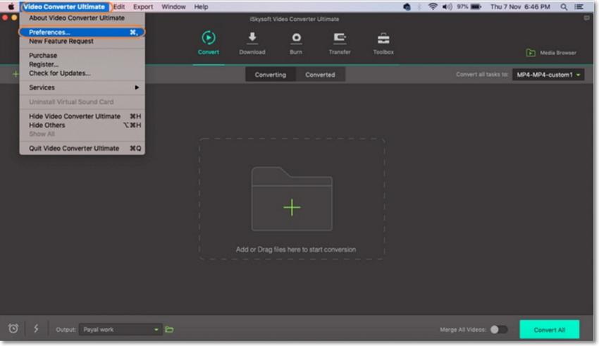 hd video converter preferences