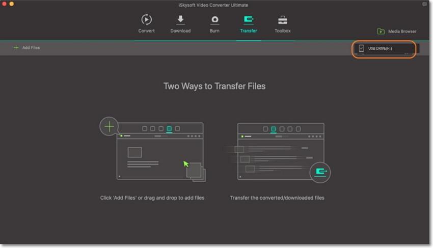 transfer video to external hard drive