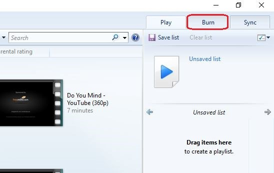 burn mp4 to dvd with windows media player