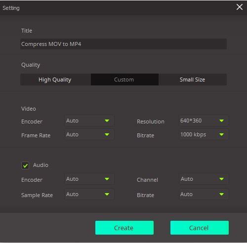 compression settings