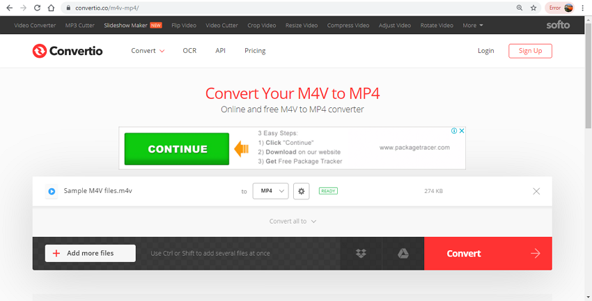 Top 9 M4V to MP4 Online Converters : How to Convert Large M4V to MP4