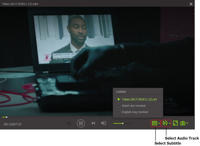 play videos with subtitle using iSkysoft Video Converter Ultimate windows