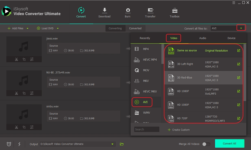 How to Convert WAV to AVI (or AVI to WAV) Online Free
