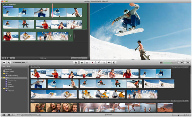 iMovie per Mac mp4