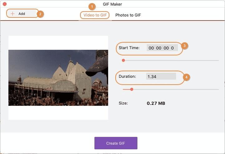 fare GIF utilizzando iskysoft imedia converter deluxe mac