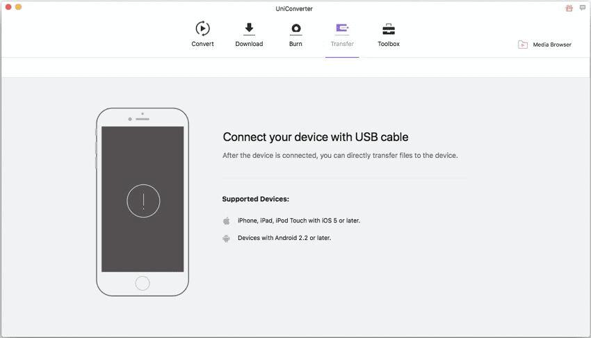 overdracht naar usb met iskysoft imedia converter deluxe mac