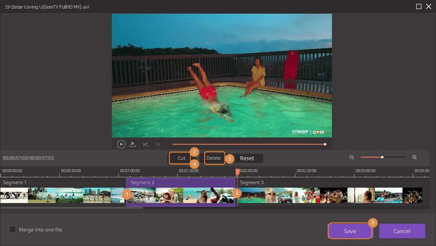 trim video met behulp van imedia converter deluxe windows