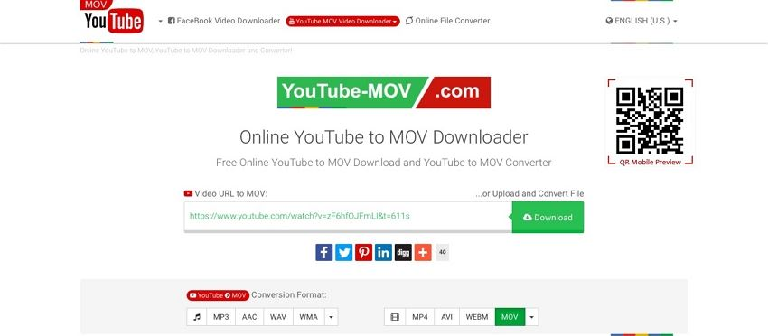 convert youtube to mov online