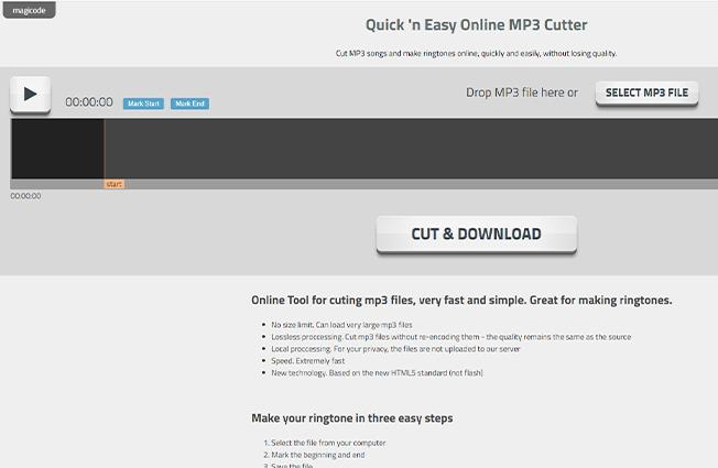 magic code online mp3 cutter