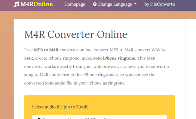 M4R Online mp3 to m4r