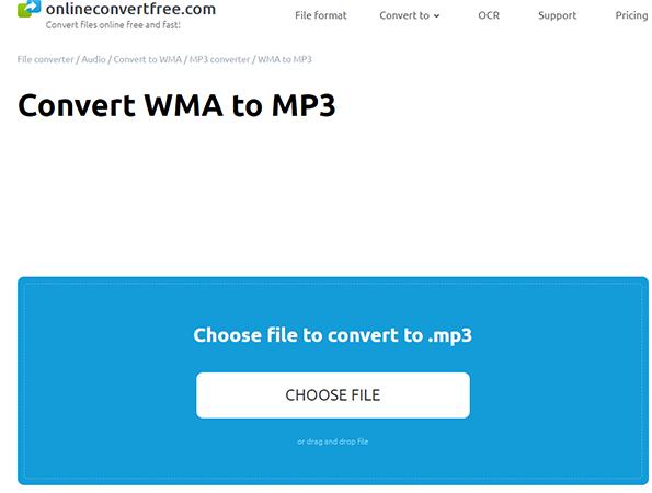online convert free wma mp3