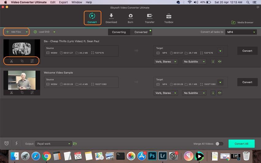 load webm file