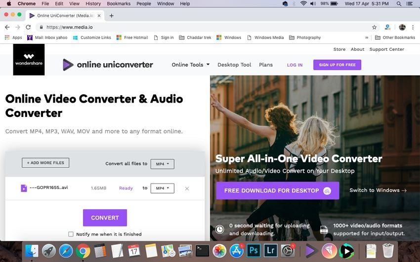 free convert avi to mp4 online