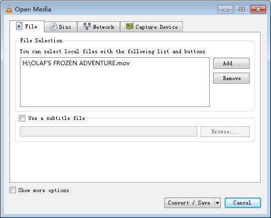 convert mp4 to mov in vlc