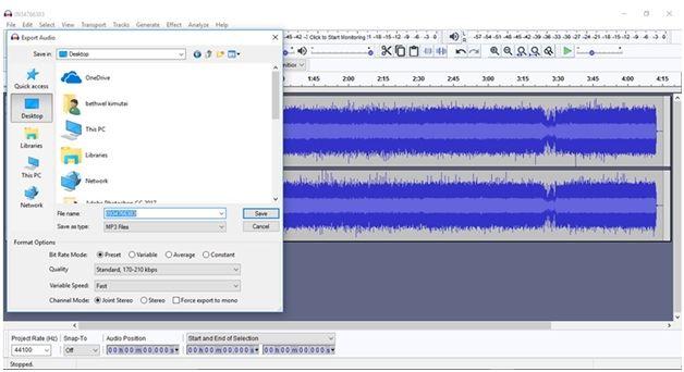 save mp3 audio files