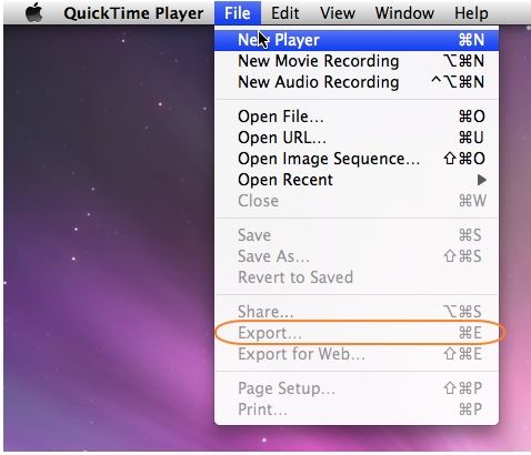 convert mov to mp4 with quicktime