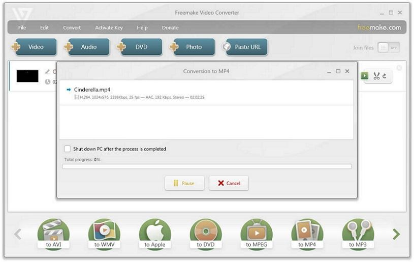 convert avi files to mp4 free