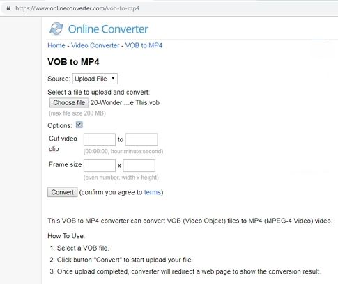 vob to mp4 converter free online