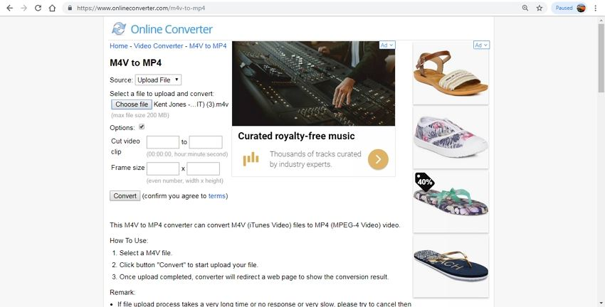 convert m4v to mp4 free online